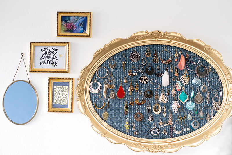 DIY project: upcycled frame as a jewellery holder by Nachtschwinge